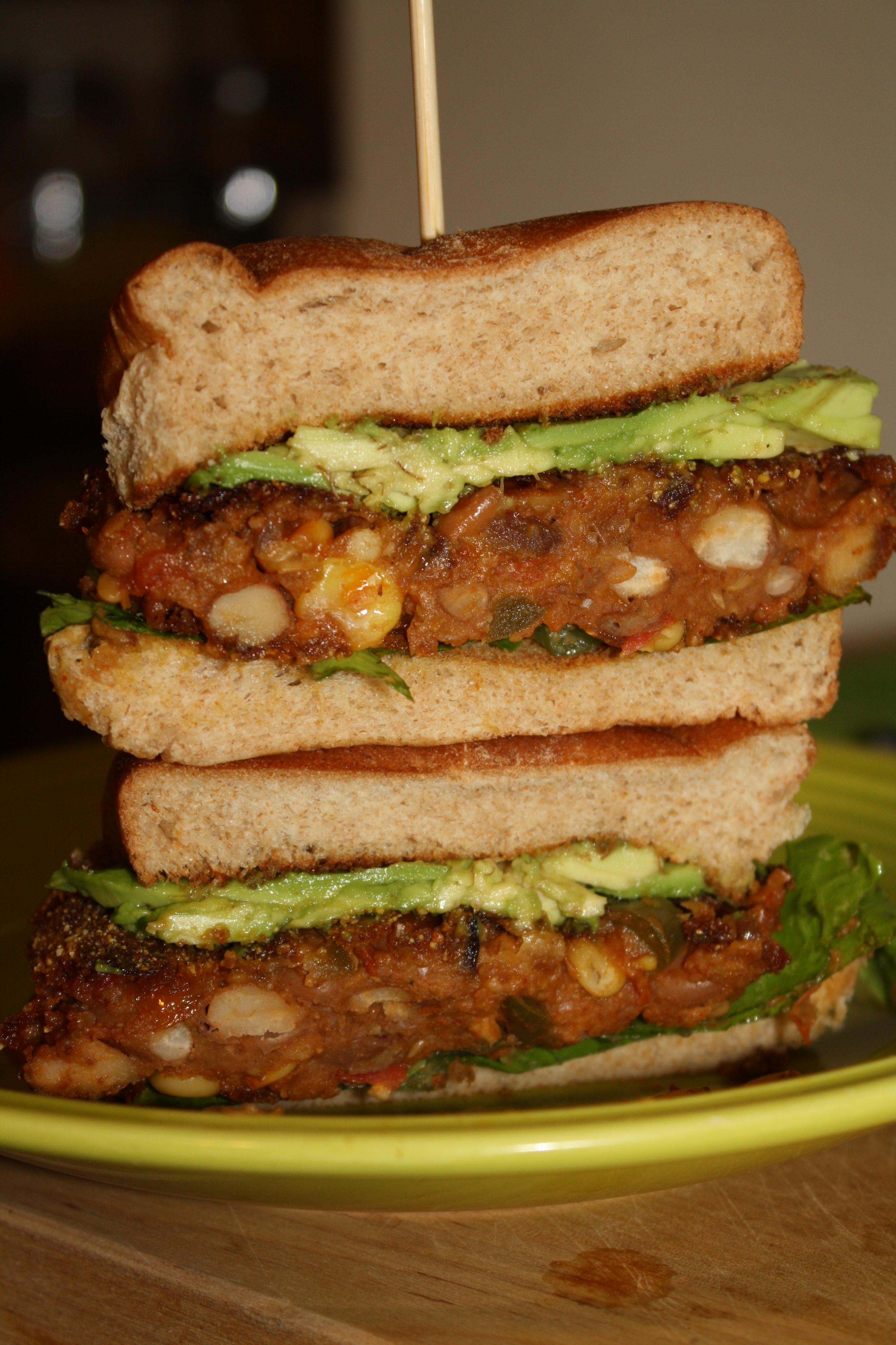 Tex Mex Pinto Bean Burgers